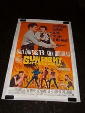 GUNFIGHT AT THE O.K. CORRAL Original Movie Poster, C8.5 Very Fine to Near Mint