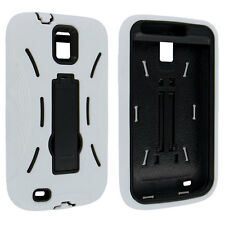 White Black Hybrid Case with Kick Stand for Samsung Galaxy S II Hercules T989