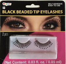 Black Beaded Tip Eyelashes By Disguise,  Self Adhesive, NIP