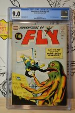 Adventures of the Fly #15 CGC 9.0 Fly Girl & Spider appearance 2nd Highest Grade