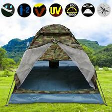 Portable Family 2 Person Auto Pop Up Tent Camouflage Camping Hiking Dome Shelter