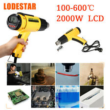 LODESTAR LCD Digital Hot Air Heat Gun Temperature Adjustable Nozzle 2000W AC220V