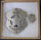 Gunsmoke US Marshal Badge & Lapel Pin Set, old west, Dodge City, Matt Dillon