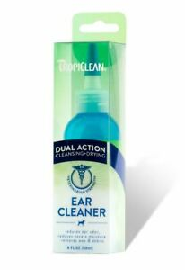 Tropiclean Dual Action Ear Cleaner 118ml - Dog Cat Cleansing Removes Wax Dirt