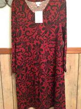Nwt~ Lularoe Emily Dress~S~Dark Red and Black Print! Simply Gorgeous!!! Rare!