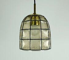 glashuette limburg hanging LAMP 1960's 70's glass pendant light