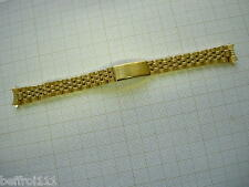 Bracelet doré  jubilé 12 mm montre watch band strap vintage pas or no gold  /22