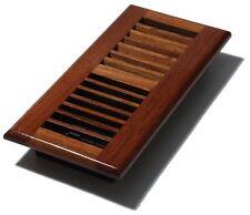 Lot of 3 Decor-Grates-Wood-Floor-Register-Air-Vent-Solid Cherry 4x10 Grade B