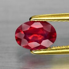 7x5mm Oval 1pc AAAAA Natural Rich Red Ruby, Mozambique