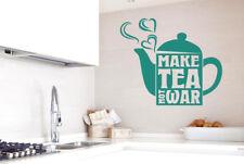 Make Tea Not War Vinilo Pegatinas De Pared Adhesivo Decoración