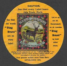 Package Label for Stag Tobacco - In Dutch and English - Rob Roy Packing Co.