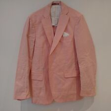GANT Mens Pink Single Breasted Two Button Dandy Blazer Jacket  Size 40