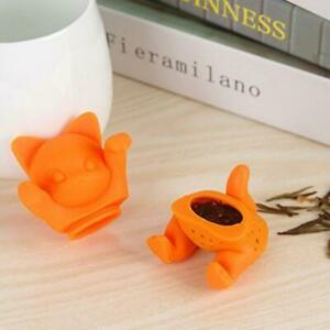 Cute Cat Silicone Tea Infuser Loose Leaf Strainer Herbal Spice Filter Diffuser