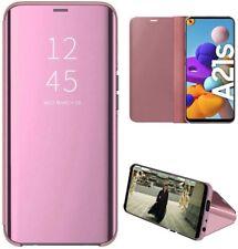 Funda Flip Cover Clear View para Samsung Galaxy A21s color Rosa