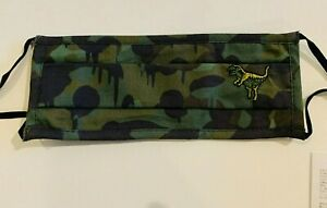 COACH C2396 Rexy Face Mask Wild Beast Unisex 100% Cotton Camo ,Green, Black