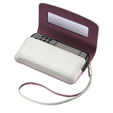 Blackberry Blanco Real Leather Folio Funda Protectora Para Bb Bold 9700, 9780, 8520 9300