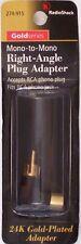 Right-Angle Male RCA Phono Plug to Female RCA Phono Jack - RadioShack 274-915