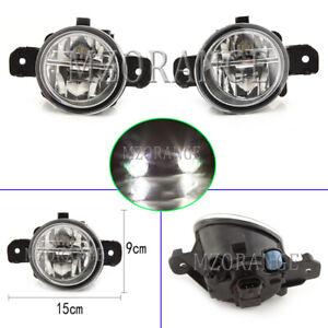 2x LED Front Fog Light Lamp For Nissan Pathfinder Navara Dualis Infiniti Renault