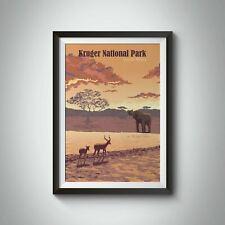 More details for kruger national park south africa travel poster - framed - bucket list prints