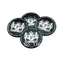 4x Sticker JP 57MM 3D Style Wheel Center Cap Badge Emblem For Black JP Modified