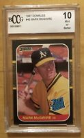 Mark McGwire Rookie 10 Grade 1987 Donruss #46 BCCG Mint Or Better