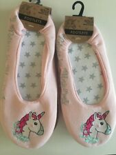 Cute Pink Unicorn Footlet Slippers Size 6 7 8  Ladies Stocking Filler
