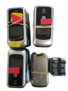 17 Lot Motorola W418 Flip Locked Tracfone Cellular Phone 2.0MP Used Need Repair