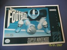 Super Play Action Football SNES 16 Bit Super Nintendo Vidpro Card