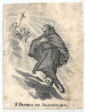 1780ca SAN PIETRO San Pedro Alcántara santino Frati minori scalzi Cáceres España
