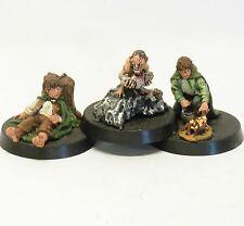 Frodo + Sam + Gollum GONDOR Herr d. Ringe Games Workshop METALL Hobbit