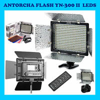 ANTORCHA YONGNUO YN-300-II 300 LED CANON NIKON OLYMPUS FLASH CAMARA FOTO VIDEO