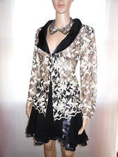SAM USA Designer Embroidery Plunge Lace Luxury Blazer Single Breast sz M G67