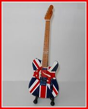 ROLLING STONES! GUITARE MINIATURE + LANGUE DRAPEAU UNION JACK UK Keith RICHARDS
