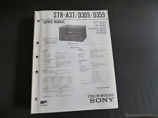 Original Service Manual Sony STR-A37 D309 D359