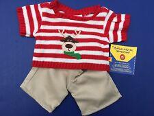 Build a Bear Teddy Bear Clothing - Reindeer Sweater & Pant Set -Christmas -NEW