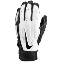 🔥 New Nike D-Tack 6.0 Football Linemen Gloves 2XL Padded White Black Adult #W🔥