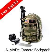 Free shipping Photo Hatchback DSLR Camera Bag Daypack Backpack laptop gopro camo