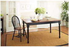 Farmhouse Dining Table Solid Wood Style Room Rectangular Kitchen Tables 6 Seats