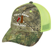 Cap Hat Custom Neon Yellow Mesh Hound Personalized Dog Hunt Squirrel Cur Feist