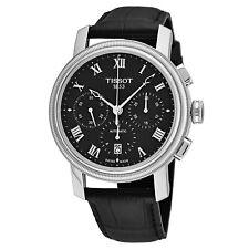 Tissot Men's Bridgeport Leather Strap Chronograph Automatic Watch T0974271605300