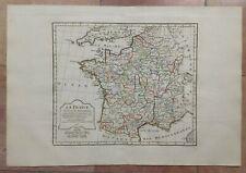 FRANCE 1806 XIXe CENTURY ROBERT DE VAUGONDY DELAMARCHE ANTIQUE ENGRAVED MAP