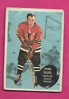 1961-62 TOPPS # 24 HAWKS PIERRE PILOTE FAIR CARD (INV# C3116)