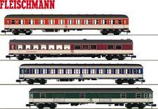 """Fleischmann N 931881-2 Schnellzugwagen-Set """"Popfarben"""" 4-teilig - NEU"""