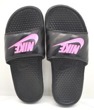 Nike Benassi JDI Black / Pink US SIZE 8 - FREE SHIPING - BRAND NEW