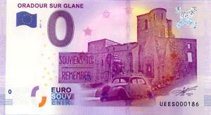 87 ORADOUR-SUR-GLANE Souviens-toi, N° 2ème, 2017, Billet Euro Souvenir