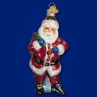 """""""Jolly Old Elf"""" (40282)X Old World Christmas Glass Ornament"""