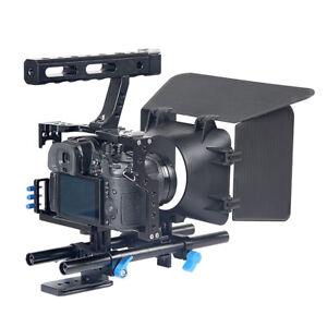 Kamera Käfig Cage Rig Griff + Follow Focus + Videosystem Matte Box für Sony A7