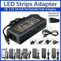 AC 100-240V To DC 12V 2A-10A Power Supply Adapter Driver Transformer LED Strip