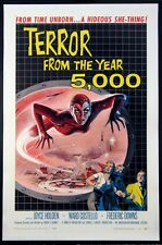 TERROR FROM THE YEAR 5000 A.I.P. SCI-FI ALBERT KALLIS ART 1958 1-SHEET ON LINEN