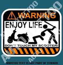 DON'T TOUCH SCOOTER WARNING DECAL STICKER FUNNY WARNING STICKERS GREAT GIFT